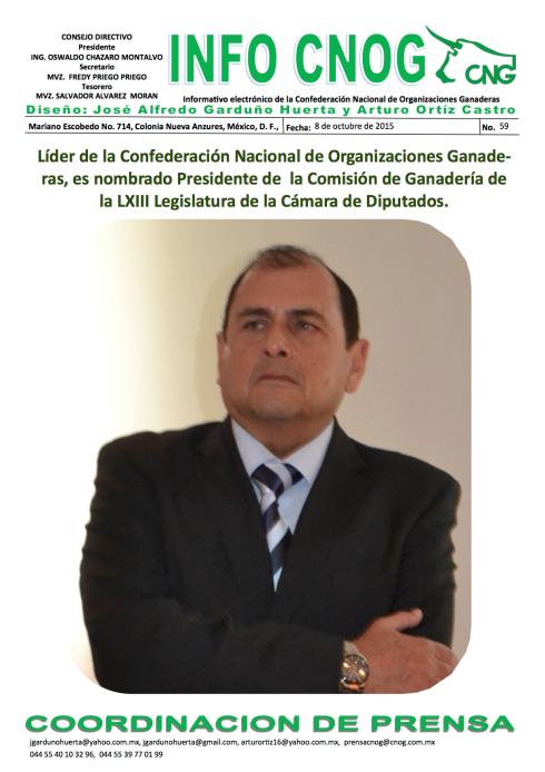 INFO CNOG 59 presidencia de la Comision de Ganaderia