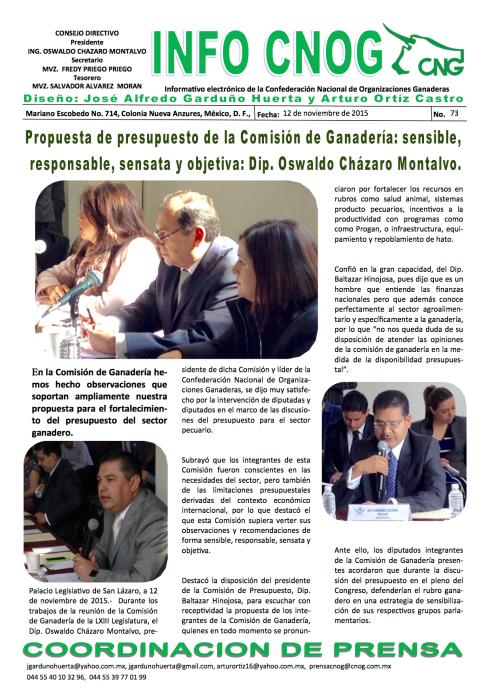 INFO CNOG 73 Comisión de Ganadería