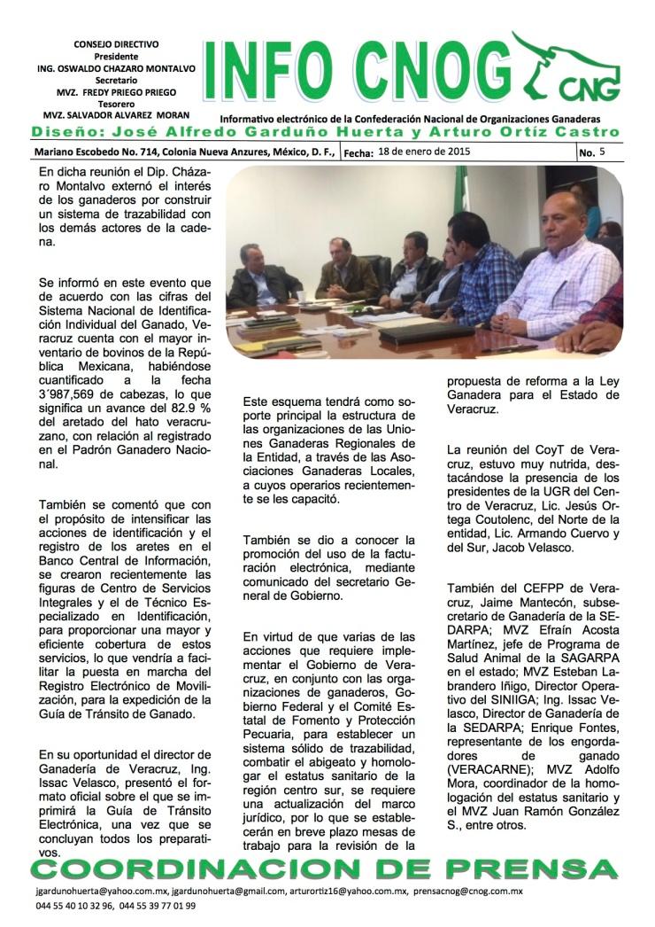 INFO CNOG 5 Reunión trazabilidad Veracruz a