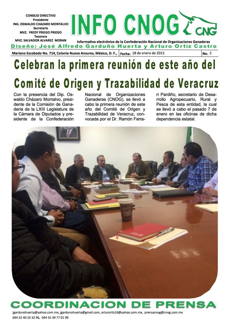 INFO CNOG 5 Reunión trazabilidad Veracruz