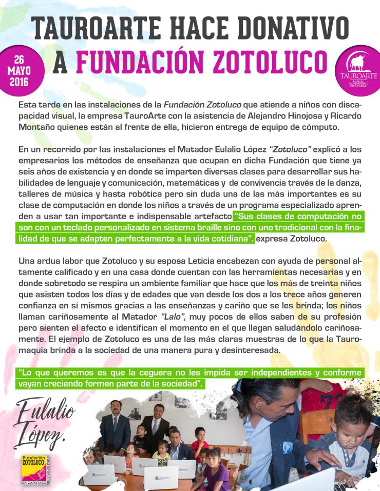 boletín fundación zotoluco