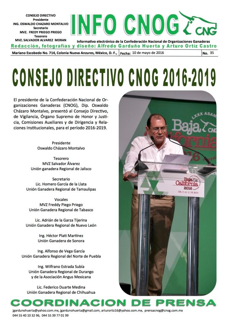 INFO CNOG 35 Consejo Directivo 2013-2016 a
