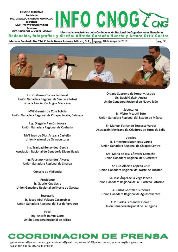 INFO CNOG 35 Consejo Directivo 2013-2016 b