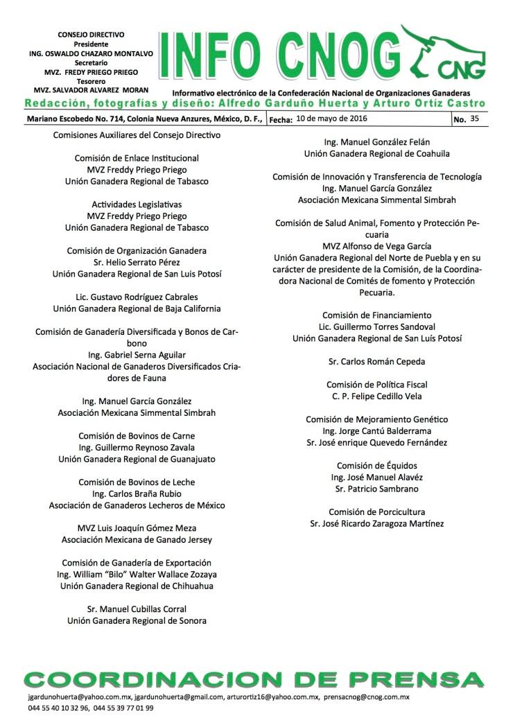 INFO CNOG 35 Consejo Directivo 2013-2016 c