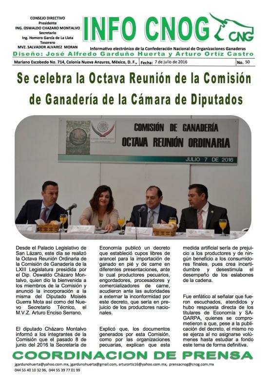 INFO CNOG 50 Octava Reunión Comisión de Ganadería