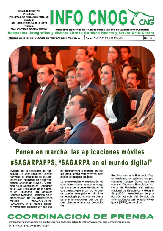 INFO CNOG 53 Sagarpa Digital