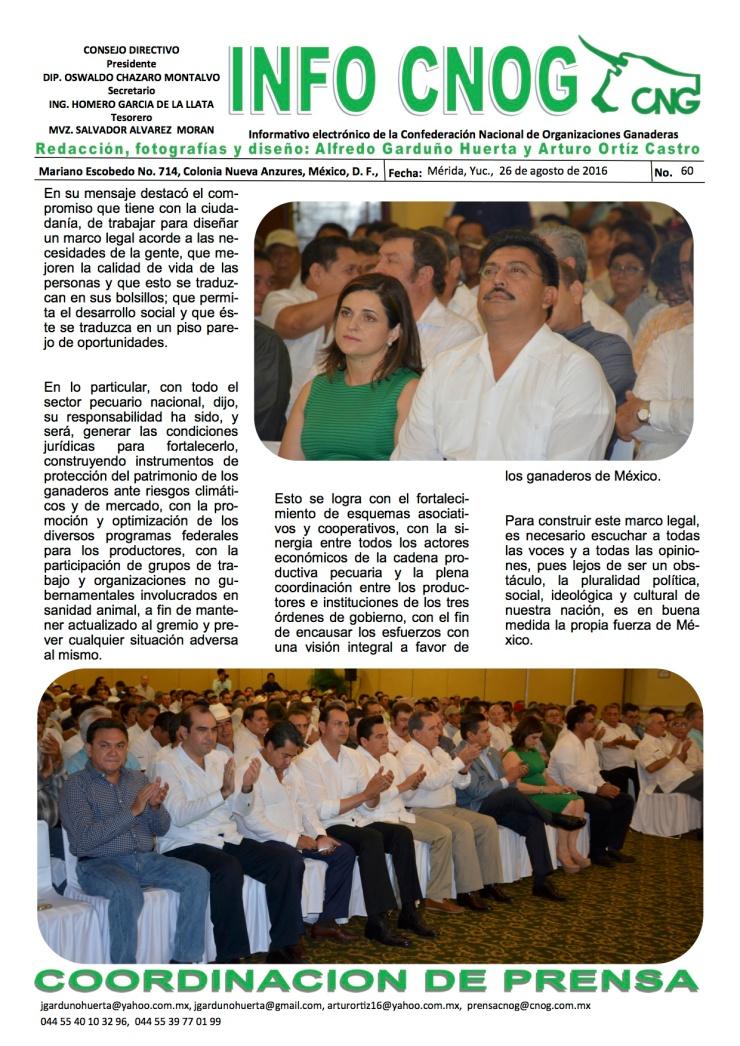 INFO CNOG 60 Informe de actividades OCM a